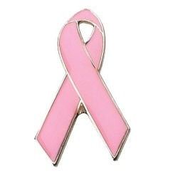 Stock Breast Awareness Ribbon Pride Pins