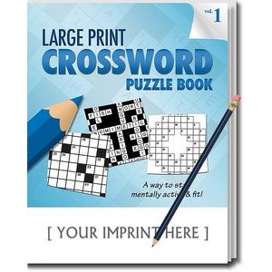 LARGE PRINT Crossword Puzzle Pack Set - Volume 1