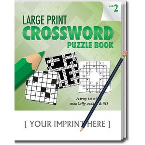 LARGE PRINT Crossword Puzzle Pack Set - Volume 2