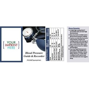 Blood Pressure Guide & Recorder Pocket Pamphlet
