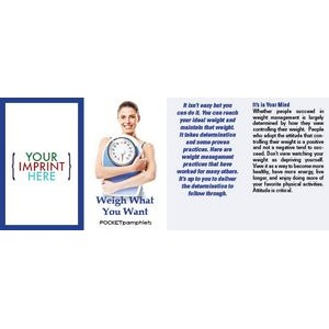 Weigh What You Want Pocket Pamphlet
