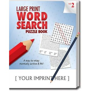 LARGE PRINT Word Search Puzzle Pack Set - Volume 2