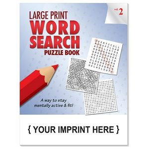 LARGE PRINT Word Search Puzzle Book - Volume 2