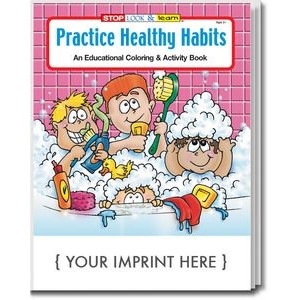Practice Healthy Habits Coloring Book