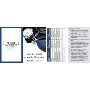 Blood Pressure Guide & Recorder-Spanish Version Pocket Pamphlet