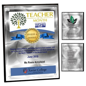 "Vertical Rectangle Alumo Tech Plaque w/4-Color Process (9""x 12""x 1"")"
