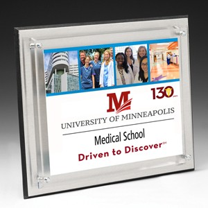"Medium Brushed Aluminum Plaque w/4-Color Process (8""x 10""x 1"")"