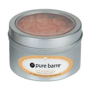 Essential Oil Infused Bath Salts in Small Window Tin