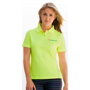 Women's Vansport Omega Solid Mesh Tech Polo Shirt