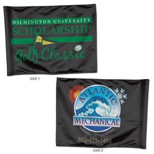 "Golf Flag - 2-Sided 14"" H x 20"" W 2-sided Rectangle w/insert"