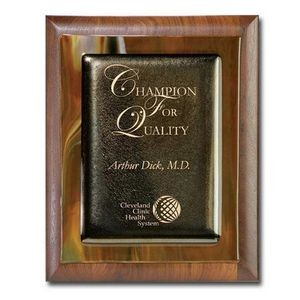 "Metallic Fusion Plaque - Brown/Walnut 10½""x13"""