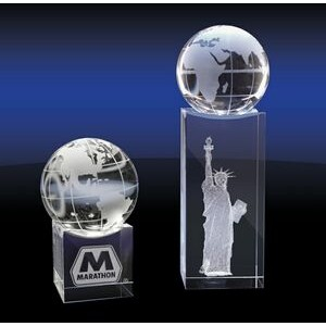 Crystal Globe on Base (Small)