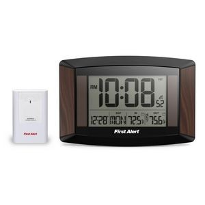 First Alert® Wall Clock w/ Weather Station