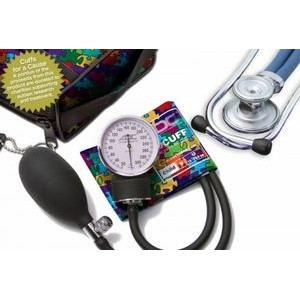 Pro's Combo 768/641 Stethoscope/Sphygmomanometer Kit for Child (Puzzle Pieces)
