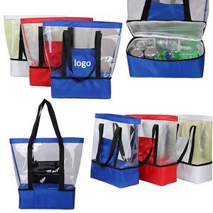 Insulated Outdoor Lunch Cooler and PVC Strap Bag