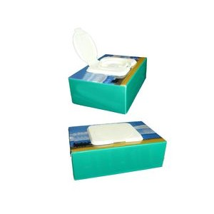 Wet Wipe Box with 40 Count Tissue Cleaning Papers